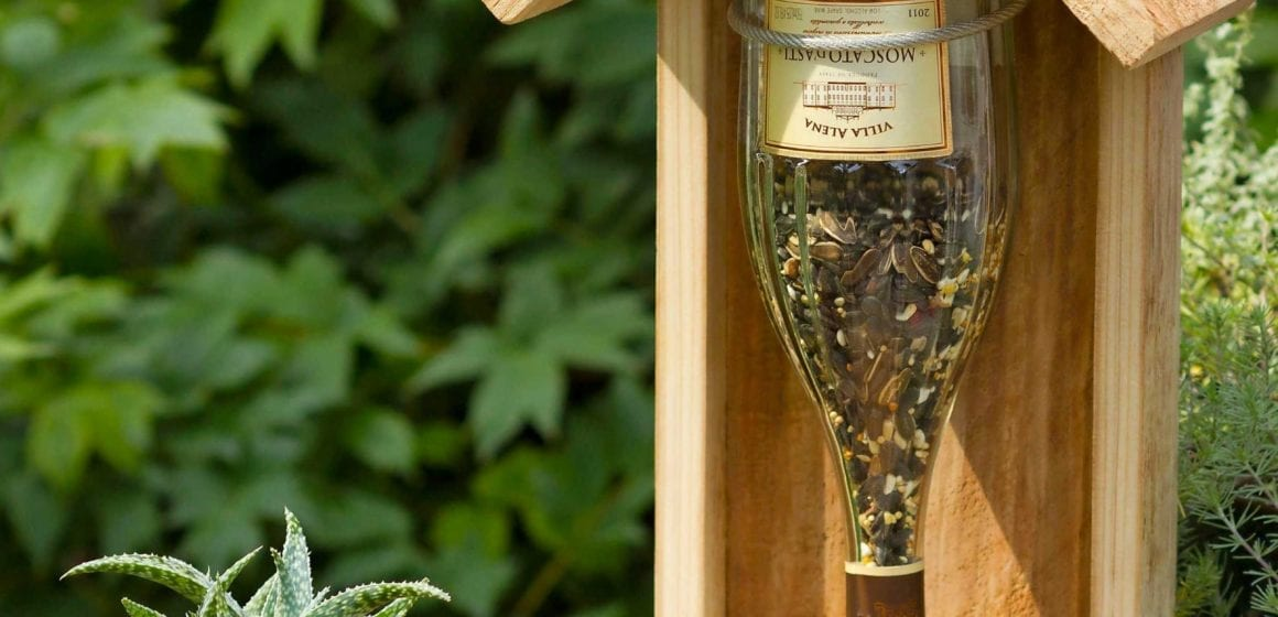 DIY Wine Bottle Bird Feeder Ideas