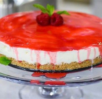 Four Almond Milk Recipes: No Bake Strawberry Cheesecake