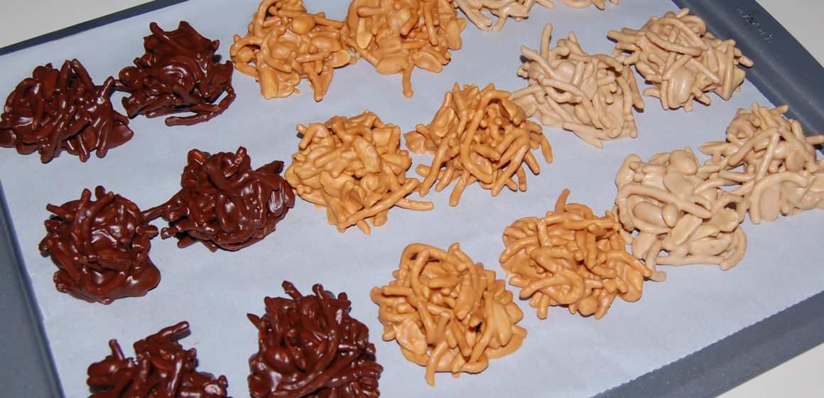 Easy Chocolate Haystacks Recipe With Chow Mein Noodles