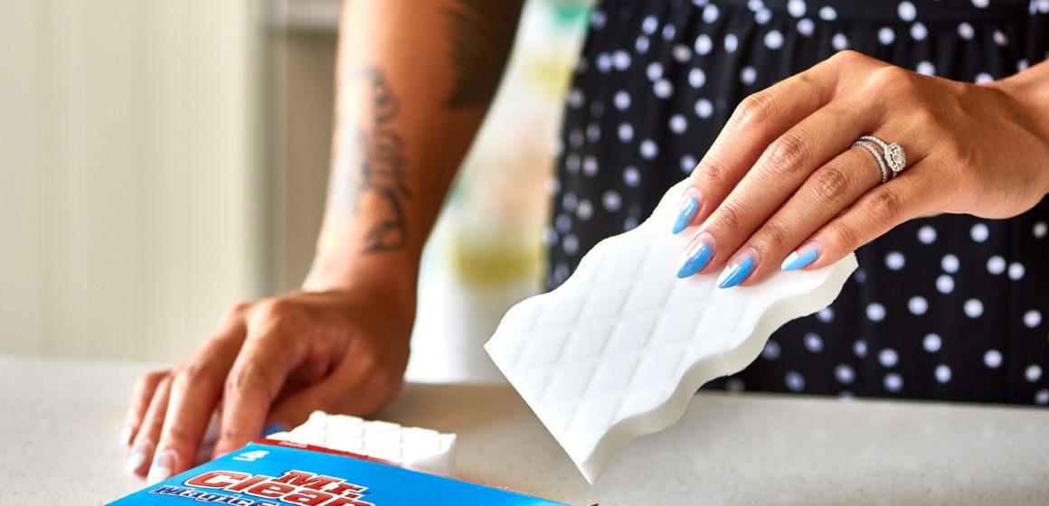 Clean Appliances Using A Magic Eraser